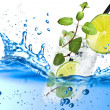 Fresh splash mojito — Stock Photo