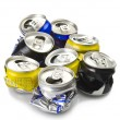 Compressed aluminium can — Stock Photo