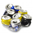 Stock Photo: Compressed aluminium can