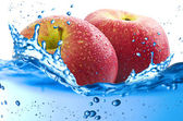 Apples splash — Stock Photo