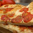 Focaccia with tomatoes — Stock Photo