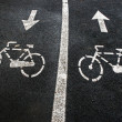 Bike lane 5 — Stock Photo