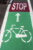 Bike lane 1 — Stock Photo