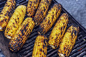 Baked corn on the grill — Stock Photo