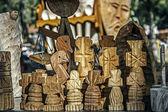 Decorative wooden carved 1 — Zdjęcie stockowe
