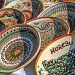 Romanian traditional ceramic plates — Stock Photo #13326369