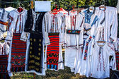 Romanian traditional costumes — Stockfoto