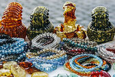 Colorful bracelets and trinkets — Stock Photo