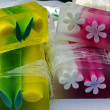 Stok fotoğraf: Happy natural soaps for children 10