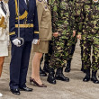 Stock Photo: Romanimilitary uniforms 1