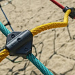 Stock Photo: Colored ropes fastened together 1