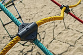 Colored ropes fastened together 1 — Stock Photo