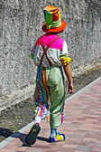Clown multicolored dressed 1 — Stock Photo