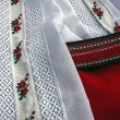 Detail of traditional Romanian port, of female clothes. — Stock Photo