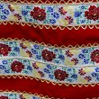 Stock Photo: Material with romanitraditional embroidery