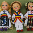 Dolls dressed in traditional Romanian folk costumes. — Stock Photo