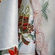 Tablecloths for Christmas dinner party-2 — Stock Photo