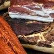 Stock Photo: Pieces of smoked pork bacon-6