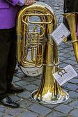 Trombon musikaliska i paus — Stockfoto