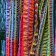 Colored scarves of various materials — 图库照片