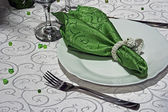 お祝いディナー - 4 のための配置 — ストック写真