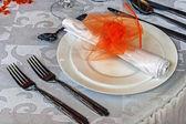 お祝いディナー - 3 のための配置 — ストック写真
