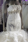 Brudklänning. detalj-1 — Stockfoto