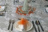 お祝いディナー - 7 のための配置 — ストック写真