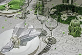 Arrangement for festive dinners - 8 — Foto Stock
