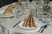 お祝いディナー - 10 のための配置 — ストック写真
