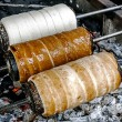 Kurtoskalacs prepared on the grill-2 — Stock Photo