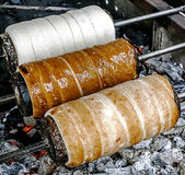 Kurtoskalacs prepared on the grill-2 — Stock Photo