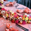 Arrangement for the wedding dinner party-6 — Stock Photo