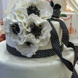 Wedding cake specially decorated.Detail 9 - Stock fotografie