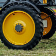 Giant wheel farm vehicle — Stock Photo