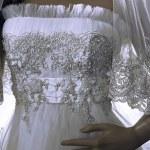Wedding dress. Detail-23 — Stock Photo