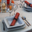 Arranjament for a romantic dinner -3 — Stock Photo
