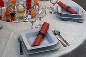 Arranjament for a romantic dinner -3 — Stockfoto