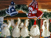 Various decorations made for Christmas — Foto Stock