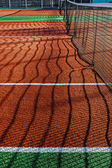 Synthetic sports field for tennis 2 — Stock Photo