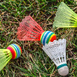 Badminton colored shuttlecocks -2 — Stock Photo