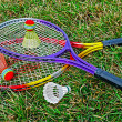 Stock Photo: Badminton racket and shuttlecoc - 6