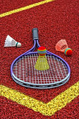 Badminton shuttlecocks & Racket-3 — Stock Photo