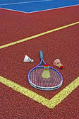 Badminton shuttlecocks & Racket-4 — Stock Photo