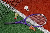 Badminton shuttlecocks & Racket-6 — Stock Photo