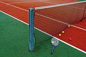 Теннисные мячи & рэкет-7 — Стоковое фото