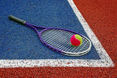 теннисные мячи & рэкет-3 — Стоковое фото