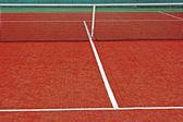 Terrain de sport synthétique pour le tennis 12 — Photo