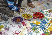 Children who paints-2 — Stock Photo