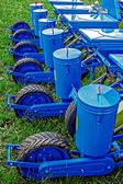 Agricultural equipment. Detail 141 — Stockfoto